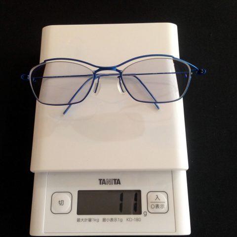 強度近視メガネでも軽い
