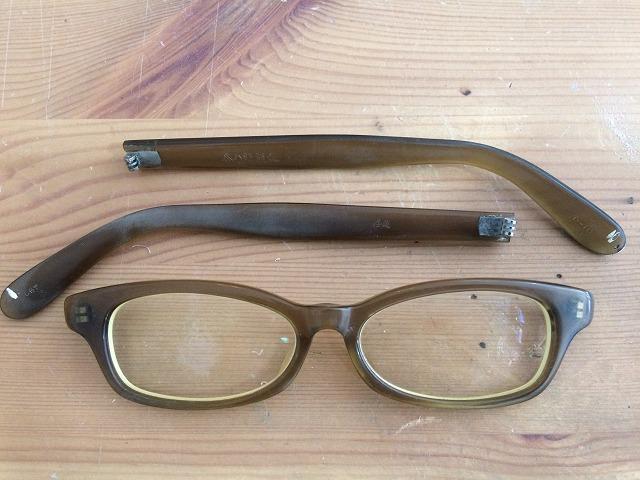 セルロイドメガネの経年劣化によるくすみをミガキ修理