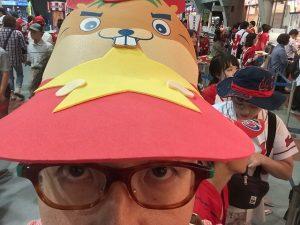 カープ応援グッズ「赤帽子かじる君」