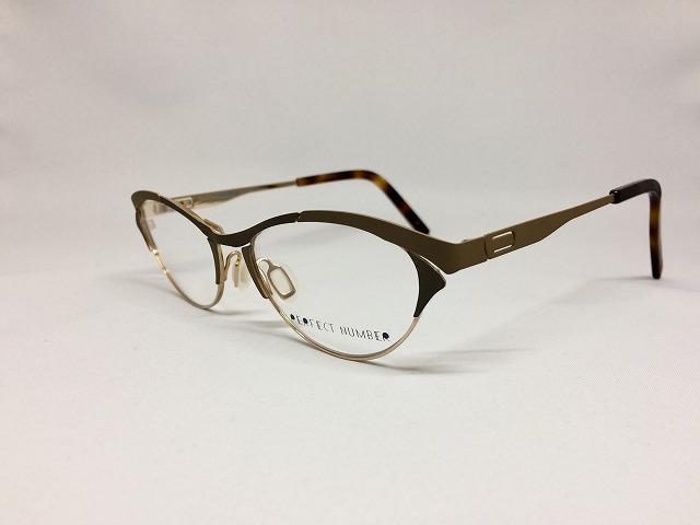 造形されたココアカラーの女性用秋色おしゃれメガネ