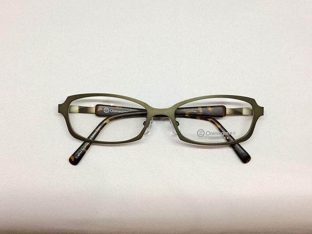 珍しいグリーンカラーのLサイズ軽量メガネ