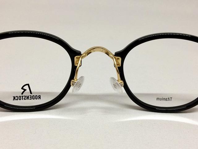 ラグジュアリーなブラック&ゴールドの小さいメガネ、ドイツのローデンストック
