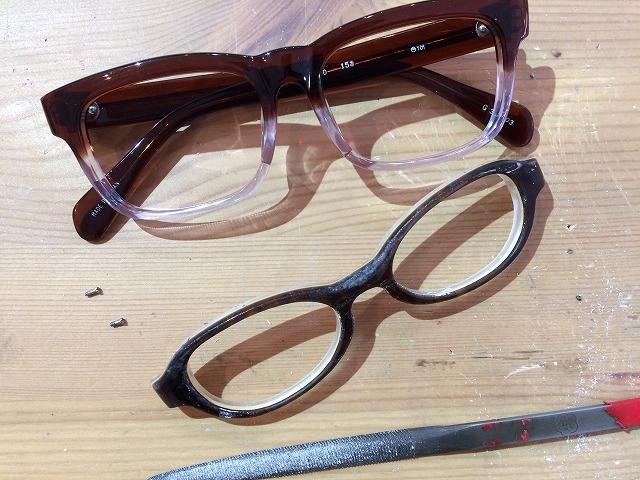 小さい大人用メガネを試作しております