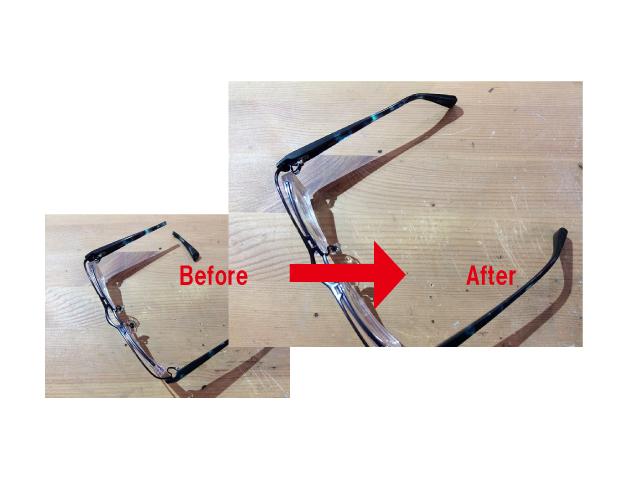 メガネのつるが 折れたので修理できますか?