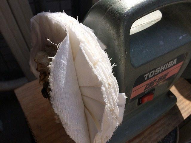 グラインダー改良(メガネ修理バフ布を交換)