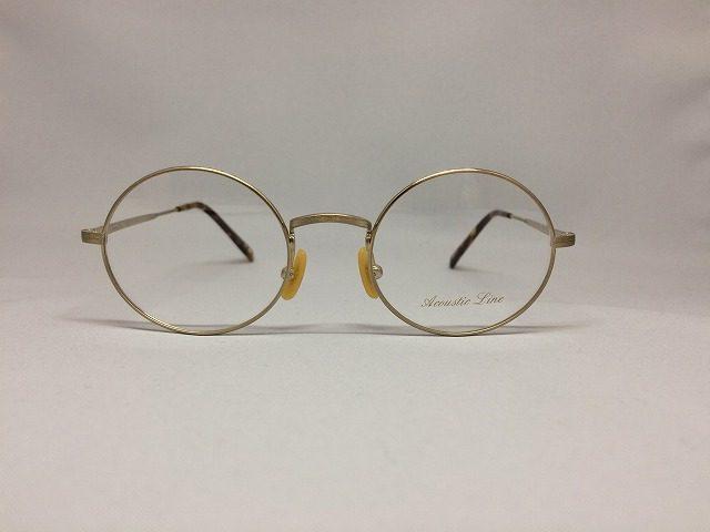 シャーリングライトゴールドの軽い丸メガネ