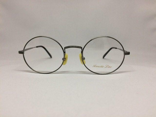 ガンメタリックの渋い丸メガネ