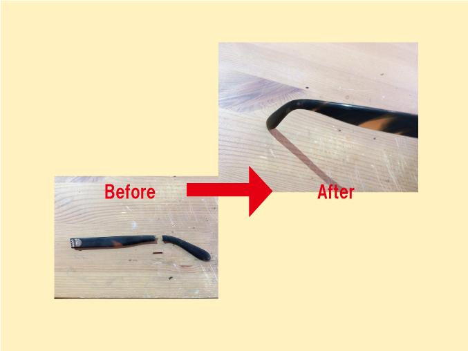 柄が折れたメガネは修理できますか?