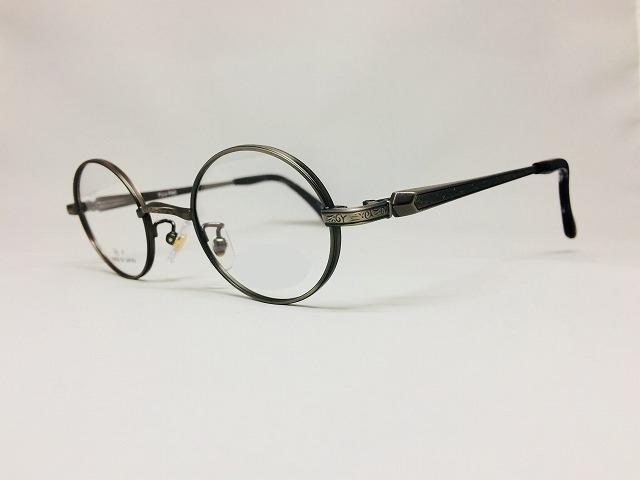 アンティークシルバーの小さい丸眼鏡