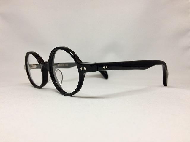 セルロイドの黒い丸メガネ