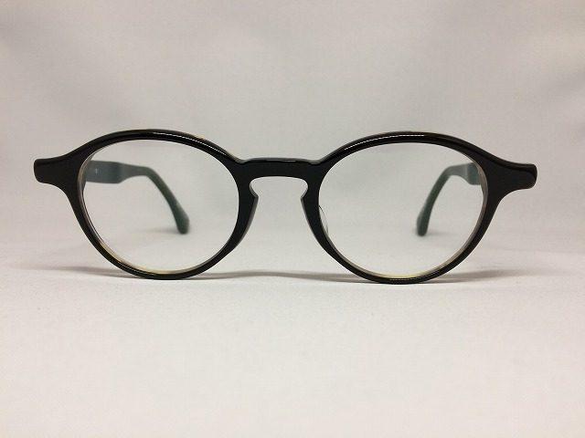ピアノブラック&ハバナの高級感のあるボストン型メガネ