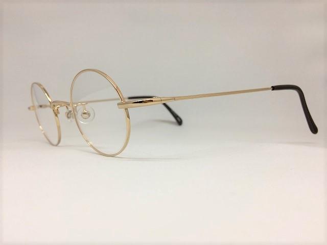 繊細な金色丸眼鏡