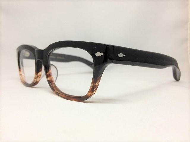 ブラックブラウンカラーセルロイドの太いメガネ