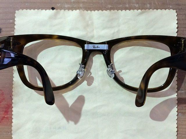 事例:折りたたみサングラスがズレ落ちるので修理したい