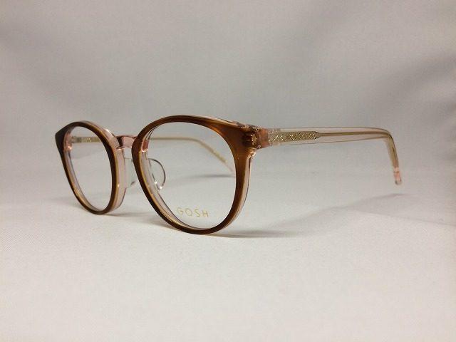小顔にぴったりのナチュラルボストン型メガネ