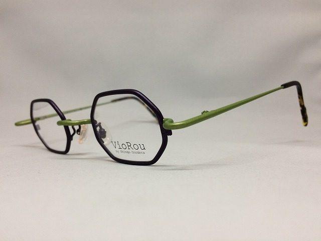 抹茶緑の八角形眼鏡センタン古都の氷華