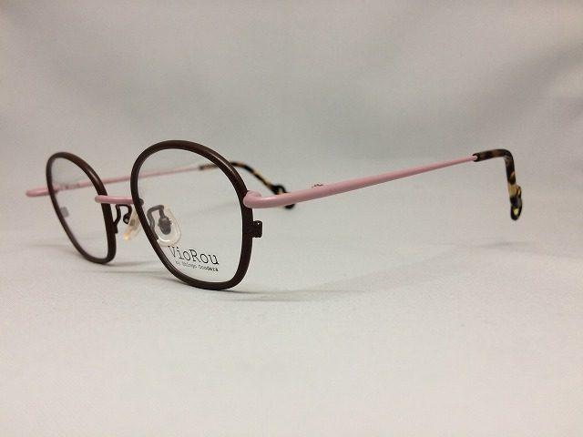 チョコレート&ピンクの丸くて可愛い眼鏡
