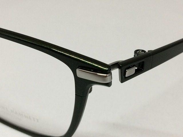 ダークグリーンのお洒落なビジネス用メガネ