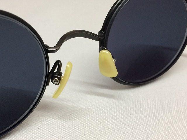 ガンメタまるメガネ&スモークレンズの渋いサングラス