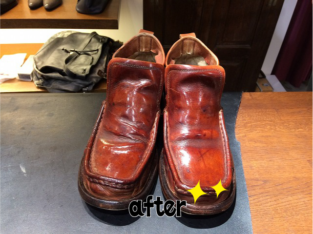 靴磨きそしてメガネ磨き(靴修理・メガネ修理)