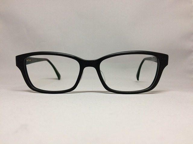 ブラックマット&ダメージ加工のワイルドなメガネ(アイソトープ)