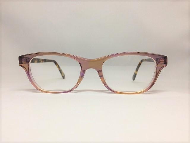 サフランカラーのオリジナルメガネ