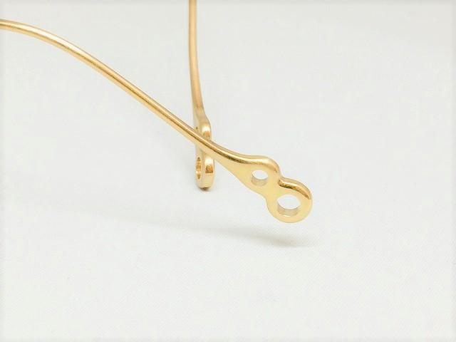 プラチナ&シャンパンゴールドカラーのワイヤーワークメガネ