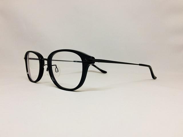 ダメージ加工の黒縁メガネ(アイソトープ)