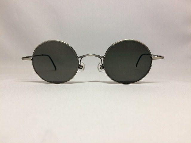 スチールグレーの小さい丸メガネ(サングラスにも変身するよ)