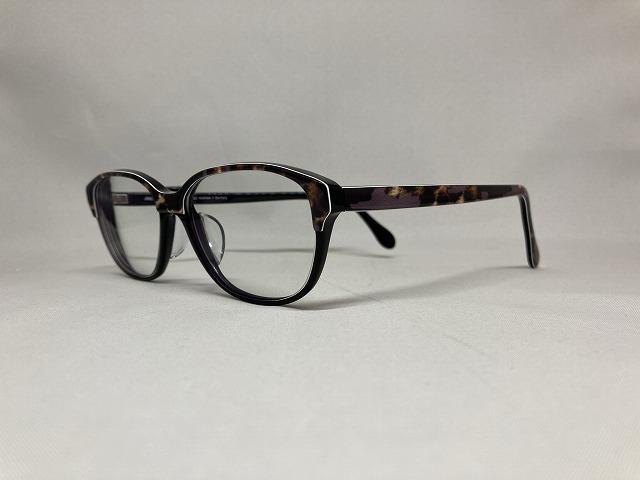 黒と豹柄のお洒落メガネ