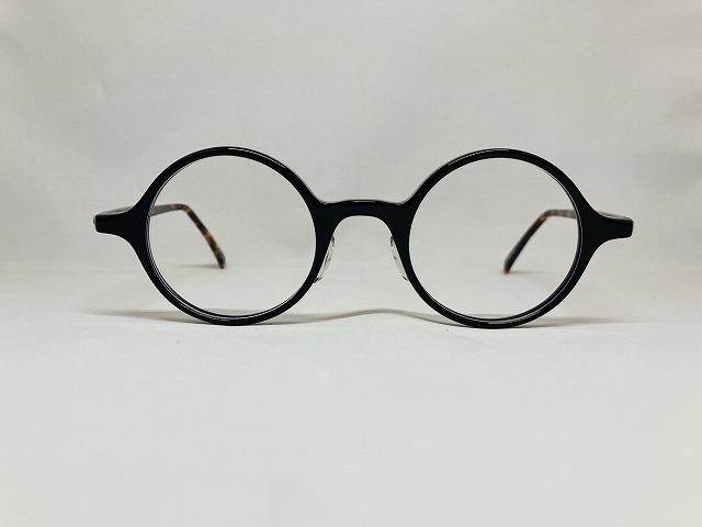 黒とべっ甲色の丸メガネ(オリジナルカスタムカラー)