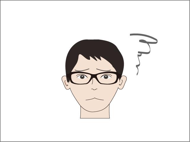 小顔メンズのメガネお悩み