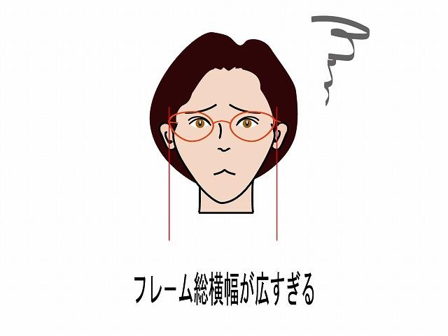 小さい顔の大人女性用おしゃれメガネ