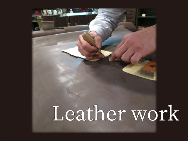 Leatherworkの本革メガネケースあります