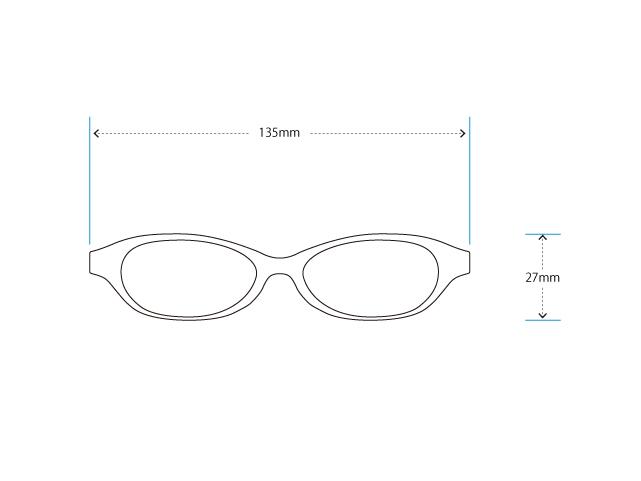 目が小さくなりにくいエレガントなメガネをオーダーメイド